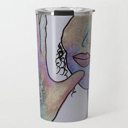 ASL Mother in Denim Colors Travel Mug