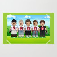 1d Area & Throw Rugs featuring Lego: One Direction 1D by Akyanyme