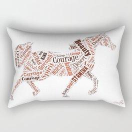 Arabian Horse Words Rectangular Pillow