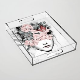 WOMAN WITH FLOWERS 10 Acrylic Tray