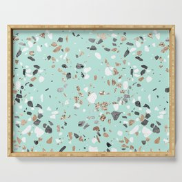 Glitter and Grit Marble Mint Green Serving Tray