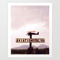 aviation Art Prints featuring Aviation Boulevard by Judith Kimber Photography