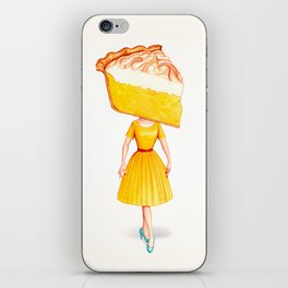 Cake Head Pin-Up - Lemon iPhone Skin