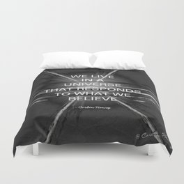 We Live In A Universe Quote - Society6 - Art - Luxury - Comforter - Bedding - Throw Pillows - Laptop Duvet Cover