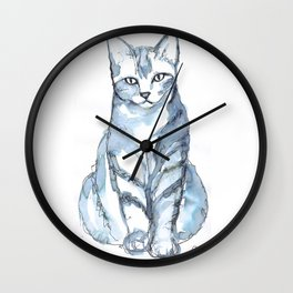 Cat with Stripes Wall Clock