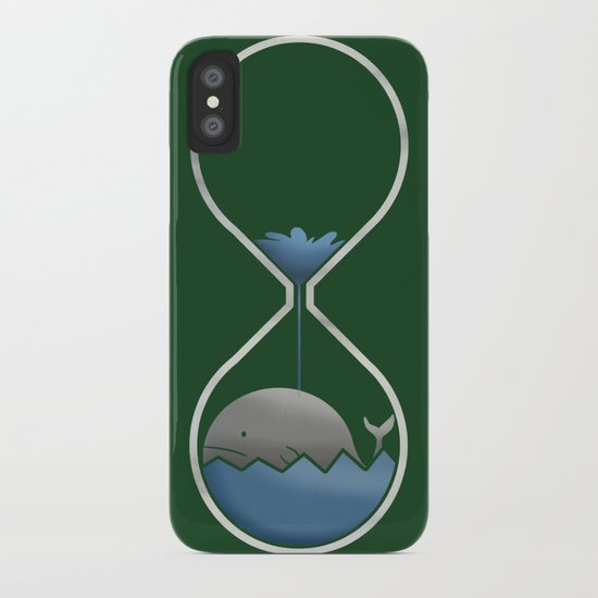 whale hourglass iPhone Case