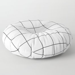 Square Grid Pattern Floor Pillow
