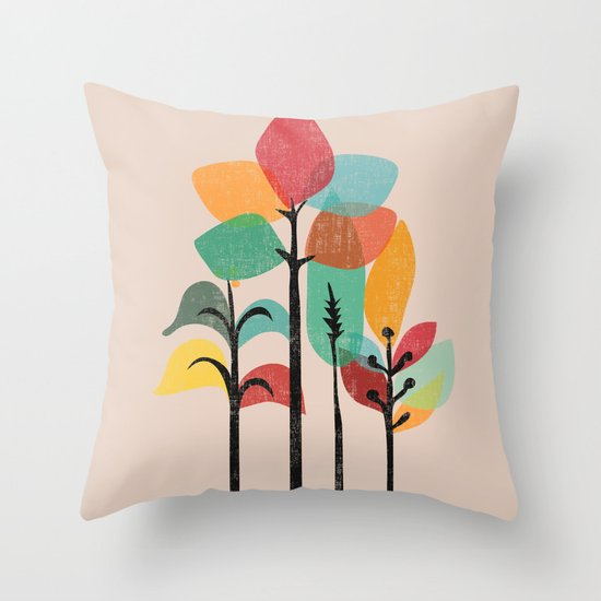 Tropical Groove Throw Pillow