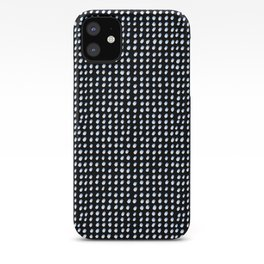 Dots (Shadowed) - White x Blue iPhone Case