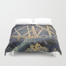The Healing Crystal cave Duvet Cover