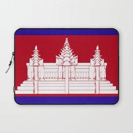 Cambodia flag emblem Laptop Sleeve