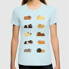 Guinea pigs Light Blue Womens Fitted Tee SMALL