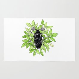 Feather Horned Beetle Rug