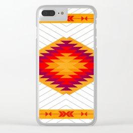 053 Traditional navajo pattern interpretation Clear iPhone Case