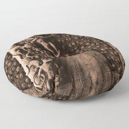Cave Canem - Wall of Skulls (sepia) Floor Pillow