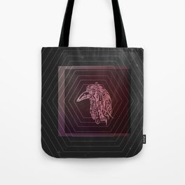 Tribal Raven: Red Tote Bag