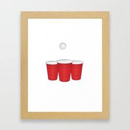 Funny Any Hole Is My Goal Frat Beer Pong Beirut Framed Art Print
