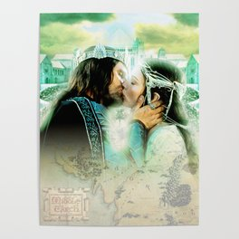 King and Queen kissing Poster