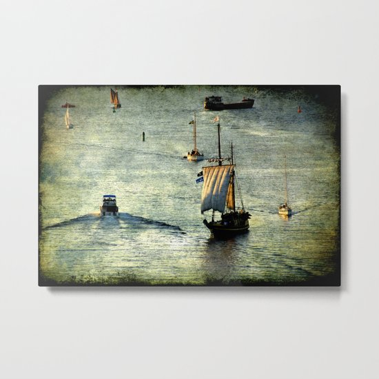 Busy Port Metal Print