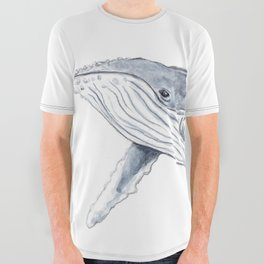 Baby humpback whale (Megaptera novaeangliae) All Over Graphic Tee
