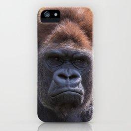 Gorilla Closeup iPhone Case