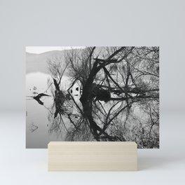 Mirrored branches Mini Art Print