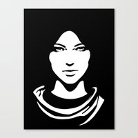woman Canvas Prints featuring Woman by Ana C Diaz Cano