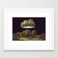 castle in the sky Framed Art Prints featuring Castle by Matthias Leutwyler