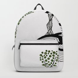 Green Tree Dots Backpack