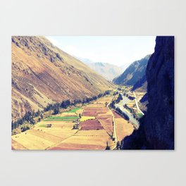 The Sacred Valley in Ollantaytambo, Peru Canvas Print