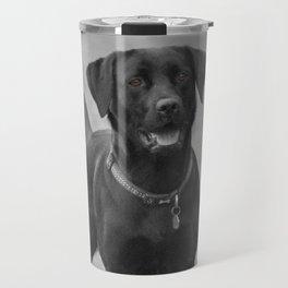 Stunning Black Labrador dog Travel Mug