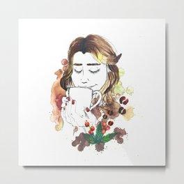 Close your eyes and taste the coffee | Cerrar los ojos y saborear el café Metal Print