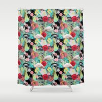 rockabilly Shower Curtains featuring rockabilly mix by kociara