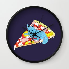 Pizza Dog Wall Clock