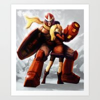 Protoman & Kalinka Art Print