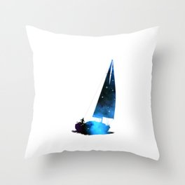 Cosmic Sailing (Silhouette) Throw Pillow