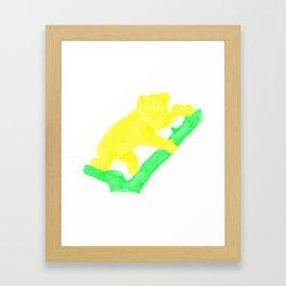 Bright Australian Native Wildlife - Yellow Koala Illustration Framed Art Print