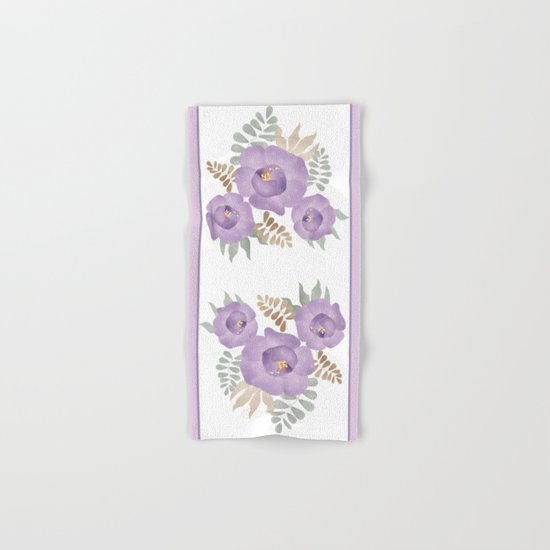 Light lilac roses.  Hand & Bath Towel