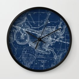 Capricorn sky star map Wall Clock