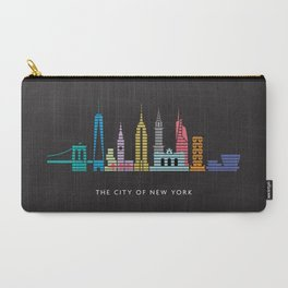 New York Skyline Black Carry-All Pouch