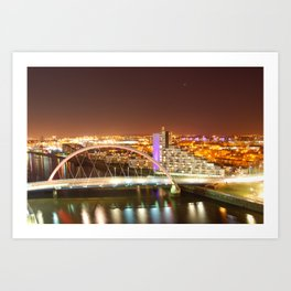 Clyde Arc Bridge. Art Print