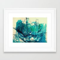 ship Framed Art Prints featuring Ship by Hilary Dow
