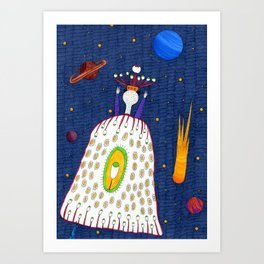 Mr.Master in the universe  Art Print