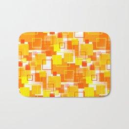 Mid-Century Modern - Orange Bath Mat