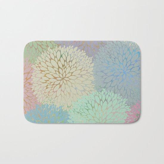 Abstract Floral Petals Bath Mat