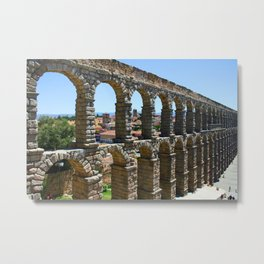 Roman aqueduct Metal Print