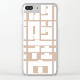 Beige Clear iPhone Case