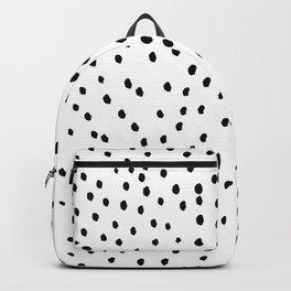 Inky polka dot pattern Backpack
