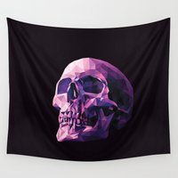 skull Wall Tapestries featuring Skull by Roland Banrevi