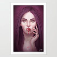 blood Art Prints featuring blood by melazerg